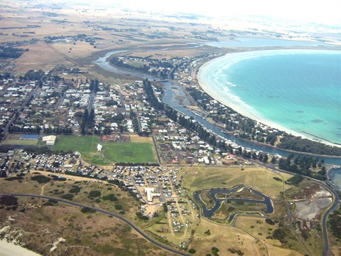 Port Fairy Aerial Overview